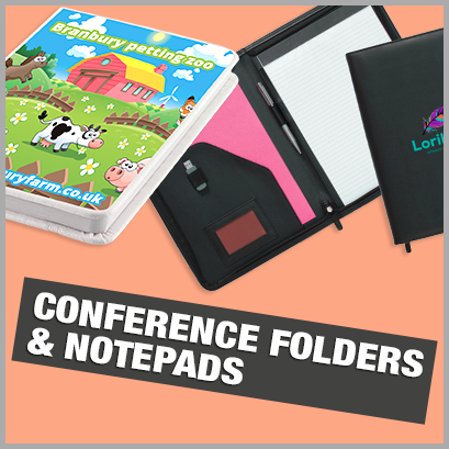 Promotional Conference Folders & Notebooks with no MOQ